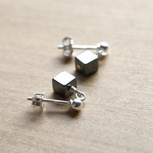 Hematite Stud Earrings . Anxiety Relief Jewelry . Healing Crystal Stud Earrings Sterling Silver | Natural genuine Gemstone earrings. Buy crystal jewelry, handmade handcrafted artisan jewelry for women.  Unique handmade gift ideas. #jewelry #beadedearrings #beadedjewelry #gift #shopping #handmadejewelry #fashion #style #product #earrings #affiliate #ad