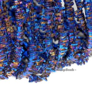 6x1mm Purple Blue Hematite Gemstone Leaf Slice 6x1mm Loose Beads 16 inch Full Strand (90185697-839) | Natural genuine other-shape Gemstone beads for beading and jewelry making.  #jewelry #beads #beadedjewelry #diyjewelry #jewelrymaking #beadstore #beading #affiliate #ad
