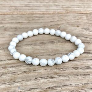 Shop Howlite Bracelets! HOWLITE Bracelet Calming Bracelet Anger Bracelet Crown Chakra Bracelet White Howlite Bracelet 6mm Howlite Crystal Reiki Energy Bracelet | Natural genuine Howlite bracelets. Buy crystal jewelry, handmade handcrafted artisan jewelry for women.  Unique handmade gift ideas. #jewelry #beadedbracelets #beadedjewelry #gift #shopping #handmadejewelry #fashion #style #product #bracelets #affiliate #ad