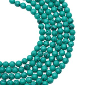 Shop Howlite Bead Shapes! 8mm Howlite Turquiose Beads, Turquiose Stone, Gemstone Beads, Wholesale Beads | Natural genuine other-shape Howlite beads for beading and jewelry making.  #jewelry #beads #beadedjewelry #diyjewelry #jewelrymaking #beadstore #beading #affiliate #ad