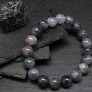 Shop Iolite Bracelets! Iolite Cordierite Genuine Bracelet ~ 7 Inches  ~ 10mm Round Beads   Natural genuine Iolite bracelets. Buy crystal jewelry, handmade handcrafted artisan jewelry for women.  Unique handmade gift ideas. #jewelry #beadedbracelets #beadedjewelry #gift #shopping #handmadejewelry #fashion #style #product #bracelets #affiliate #ad