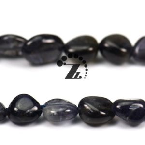 """Shop Iolite Chip & Nugget Beads! Iolite,15"""" full strand Natural Iolite beads,pebble nugget beads,Beautiful beads, 5-8mm 