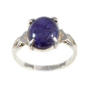 Shop Iolite Rings! Gorgeous Iolite Ring Medieval Talisman Water Sapphire Gem Viking Norse Amulet Solar Navigation Gemstone 19th Century Gemstone Iolite #55680 | Natural genuine Iolite rings, simple unique handcrafted gemstone rings. #rings #jewelry #shopping #gift #handmade #fashion #style #affiliate #ad