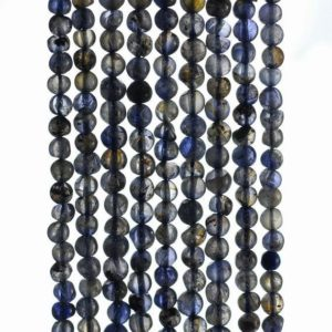 Shop Iolite Round Beads! 4mm Bermudan Blue Iolite Gemstone Grade B Blue Round Loose Beads 14 inch Full Strand (90184947-899) | Natural genuine round Iolite beads for beading and jewelry making.  #jewelry #beads #beadedjewelry #diyjewelry #jewelrymaking #beadstore #beading #affiliate #ad