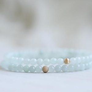 Genuine Jade bracelet with 14K gold filled accent bead | Dainty Burma jade bracelet | natural jade | gift for her | healing bracelet | Natural genuine Jade bracelets. Buy crystal jewelry, handmade handcrafted artisan jewelry for women.  Unique handmade gift ideas. #jewelry #beadedbracelets #beadedjewelry #gift #shopping #handmadejewelry #fashion #style #product #bracelets #affiliate #ad