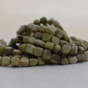 """Shop Jade Chip & Nugget Beads! High Quality Grade A Natural Butter Jade Semi-precious Gemstone Pebble Tumbled stone Nugget Beads approx 7mm-10mm – 15"""" strand 