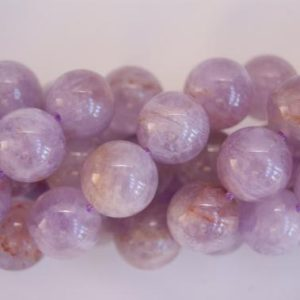 Shop Jade Faceted Beads! Lavender Jade 6,8,10,12,14,16,20mm Smooth/faceted Round Shaped Gemstone Bead –15 inch strand | Natural genuine faceted Jade beads for beading and jewelry making.  #jewelry #beads #beadedjewelry #diyjewelry #jewelrymaking #beadstore #beading #affiliate #ad