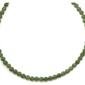 Shop Jade Necklaces! Jade Necklace Green Nephrite Sterling Silver or 14k Gold Filled Chain 20 Inches Natural Solid Strand Round Smooth Simple 4mm Classic | Natural genuine Jade necklaces. Buy crystal jewelry, handmade handcrafted artisan jewelry for women.  Unique handmade gift ideas. #jewelry #beadednecklaces #beadedjewelry #gift #shopping #handmadejewelry #fashion #style #product #necklaces #affiliate #ad