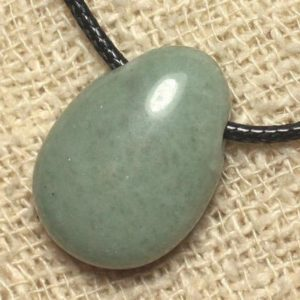 Shop Jade Pendants! Stone – Jade drop 25mm pendant necklace | Natural genuine Jade pendants. Buy crystal jewelry, handmade handcrafted artisan jewelry for women.  Unique handmade gift ideas. #jewelry #beadedpendants #beadedjewelry #gift #shopping #handmadejewelry #fashion #style #product #pendants #affiliate #ad