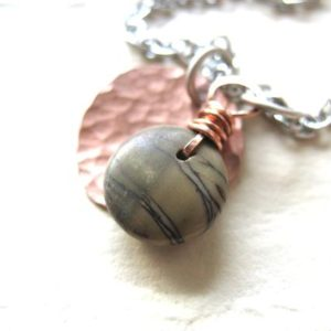 Jasper, Jasper Necklace, Jasper Copper Necklace, Jasper Stone Hammered Copper Necklace, Jasper Jewelry, Copper Necklace, Charm Necklace | Natural genuine Jasper necklaces. Buy crystal jewelry, handmade handcrafted artisan jewelry for women.  Unique handmade gift ideas. #jewelry #beadednecklaces #beadedjewelry #gift #shopping #handmadejewelry #fashion #style #product #necklaces #affiliate #ad