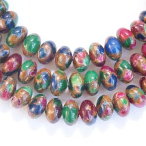 Shop Jasper Rondelle Beads! Mixed Jasper Smooth Rondelle Shaped Gemstone Beads–6x4mm 8x5mm 10mmX6mm 12x8mm–15.5 inch strand- | Natural genuine rondelle Jasper beads for beading and jewelry making.  #jewelry #beads #beadedjewelry #diyjewelry #jewelrymaking #beadstore #beading #affiliate #ad