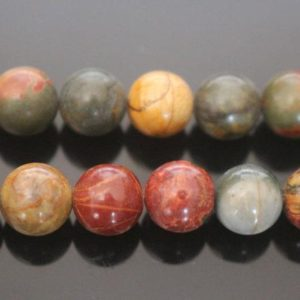 "Shop Jasper Beads! Natural Red Creek Jasper Round Beads,Picasso Jasper Beads,6mm 8mm 10mm Natural beads,one strand 15"",Picasso Jasper Beads 