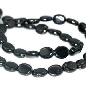 Shop Jet Beads! FREE USA Ship 10x8mm Black Jet Gemstone Oval Loose Beads 16 inch Full Strand LOT 1,2,6,12 and 50 (90186923-825)   Natural genuine other-shape Jet beads for beading and jewelry making.  #jewelry #beads #beadedjewelry #diyjewelry #jewelrymaking #beadstore #beading #affiliate #ad