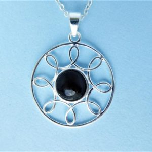 Shop Jet Pendants! Whitby Jet And Silver Wire Pendant   Natural genuine Jet pendants. Buy crystal jewelry, handmade handcrafted artisan jewelry for women.  Unique handmade gift ideas. #jewelry #beadedpendants #beadedjewelry #gift #shopping #handmadejewelry #fashion #style #product #pendants #affiliate #ad