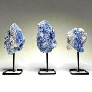 Shop Kyanite Stones & Crystals! Blue Kyanite Cluster On Stand | Natural genuine stones & crystals in various shapes & sizes. Buy raw cut, tumbled, or polished gemstones for making jewelry or crystal healing energy vibration raising reiki stones. #crystals #gemstones #crystalhealing #crystalsandgemstones #energyhealing #affiliate #ad