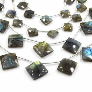 Shop Labradorite Bead Shapes! Labradorite Beads | Hand Cut Indian Gemstone | 10mm AND 15mm Diamond Shaped Beads | AAA Labradorite | Loose Gemstone Beads | Natural genuine other-shape Labradorite beads for beading and jewelry making.  #jewelry #beads #beadedjewelry #diyjewelry #jewelrymaking #beadstore #beading #affiliate #ad