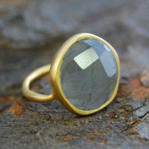 Shop Labradorite Jewelry! Labradorite Ring, Gold Gemstone Ring, Gold Ring with Stone, Sterling Silver Cocktail Ring, Statement Ring, Blue Labradorite Stone, Gold Ring | Natural genuine Labradorite jewelry. Buy crystal jewelry, handmade handcrafted artisan jewelry for women.  Unique handmade gift ideas. #jewelry #beadedjewelry #beadedjewelry #gift #shopping #handmadejewelry #fashion #style #product #jewelry #affiliate #ad