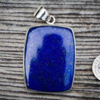 Lapis Pendant Set In Sterling Silver – Gorgeous Lapis Lazuli Pendant – Lapis Jewelry – Sterling Silver Lapis Necklace – Lapis Lazuli Jewelry | Natural genuine Gemstone jewelry. Buy crystal jewelry, handmade handcrafted artisan jewelry for women.  Unique handmade gift ideas. #jewelry #beadedjewelry #beadedjewelry #gift #shopping #handmadejewelry #fashion #style #product #jewelry #affiliate #ad
