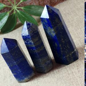Shop Lapis Lazuli Points & Wands! Lapis Lazuli Point | Natural genuine stones & crystals in various shapes & sizes. Buy raw cut, tumbled, or polished gemstones for making jewelry or crystal healing energy vibration raising reiki stones. #crystals #gemstones #crystalhealing #crystalsandgemstones #energyhealing #affiliate #ad