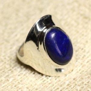 Shop Lapis Lazuli Rings! N124 – 925 sterling silver ring and stone – Lapis Lazuli oval 14x10mm | Natural genuine Lapis Lazuli rings, simple unique handcrafted gemstone rings. #rings #jewelry #shopping #gift #handmade #fashion #style #affiliate #ad