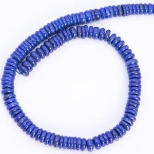 """Shop Lapis Lazuli Rondelle Beads! 9x4MM Blue Lapis Lazuli Beads Afghanistan Grade AA+ Genuine Natural Gemstone Full Strand Rondelle Loose Beads 16"""" (114610-3783) 