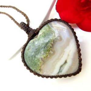 Shop Moss Agate Pendants! Large Heart shape Moss Agate macrame pendant, Agate Necklace, Moss Agate necklace, Agate, Handmade jewelry, stone pendant, macrame jewelry | Natural genuine Moss Agate pendants. Buy crystal jewelry, handmade handcrafted artisan jewelry for women.  Unique handmade gift ideas. #jewelry #beadedpendants #beadedjewelry #gift #shopping #handmadejewelry #fashion #style #product #pendants #affiliate #ad