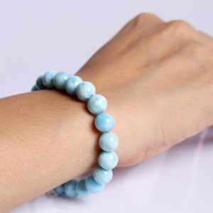Shop Larimar Bracelets! Larimar Gemstone Bracelet Healing Crystal Larimar Jewelry Handmade Bracelet Adjustable Bracelet Lobster Claw Clasp Women's Jewelry | Natural genuine Larimar bracelets. Buy crystal jewelry, handmade handcrafted artisan jewelry for women.  Unique handmade gift ideas. #jewelry #beadedbracelets #beadedjewelry #gift #shopping #handmadejewelry #fashion #style #product #bracelets #affiliate #ad