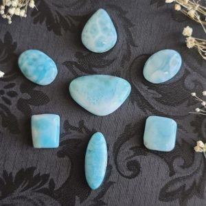 Shop Larimar Cabochons! Larimar Cabochon, Choose Your Crystal Gemstone for Jewelry Making or Crystal Grids | Natural genuine stones & crystals in various shapes & sizes. Buy raw cut, tumbled, or polished gemstones for making jewelry or crystal healing energy vibration raising reiki stones. #crystals #gemstones #crystalhealing #crystalsandgemstones #energyhealing #affiliate #ad