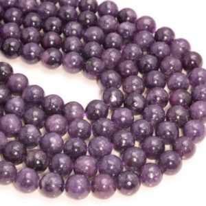 SALE PRICE + Free USA Ship Genuine Natural Purple Lepidolite Deep Round Shape 6mm 8mm Grade Aaa Full Strand | Natural genuine beads Gemstone beads for beading and jewelry making.  #jewelry #beads #beadedjewelry #diyjewelry #jewelrymaking #beadstore #beading #affiliate #ad