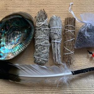 Shop Crystal Healing! Lg Smudge Kit Tribal 7 pcs w/dream catcher | Shop jewelry making and beading supplies, tools & findings for DIY jewelry making and crafts. #jewelrymaking #diyjewelry #jewelrycrafts #jewelrysupplies #beading #affiliate #ad