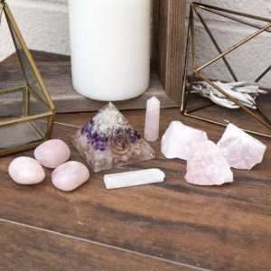 Shop Crystal Healing! Love Healing Crystal Kit – Rose Quartz Tumbled Stones, Raw Crystals, Rose, Amethyst & Clear Quartz Orgonite, Selenite | Shop jewelry making and beading supplies, tools & findings for DIY jewelry making and crafts. #jewelrymaking #diyjewelry #jewelrycrafts #jewelrysupplies #beading #affiliate #ad