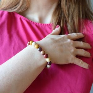 Shop Mookaite Bracelets! Mookaite Jasper Bracelet, Carnival of Colors | Natural genuine Mookaite bracelets. Buy crystal jewelry, handmade handcrafted artisan jewelry for women.  Unique handmade gift ideas. #jewelry #beadedbracelets #beadedjewelry #gift #shopping #handmadejewelry #fashion #style #product #bracelets #affiliate #ad