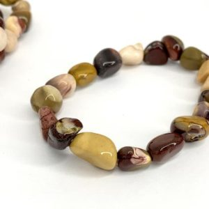Shop Mookaite Bracelets! Mookaite Jasper Tumbled Bracelet | Natural genuine Mookaite bracelets. Buy crystal jewelry, handmade handcrafted artisan jewelry for women.  Unique handmade gift ideas. #jewelry #beadedbracelets #beadedjewelry #gift #shopping #handmadejewelry #fashion #style #product #bracelets #affiliate #ad