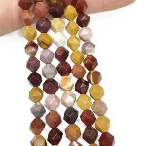 Shop Mookaite Jasper Faceted Beads! Faceted Mookaite Beads, Star Cut Beads, Gemstone Beads, 8mm, 10mm | Natural genuine faceted Mookaite Jasper beads for beading and jewelry making.  #jewelry #beads #beadedjewelry #diyjewelry #jewelrymaking #beadstore #beading #affiliate #ad