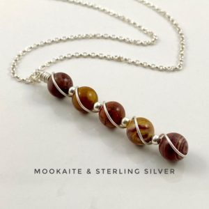 Shop Mookaite Necklaces! Mookaite, Crystal Necklace, Sterling Silver, Statement Necklace | Natural genuine Mookaite necklaces. Buy crystal jewelry, handmade handcrafted artisan jewelry for women.  Unique handmade gift ideas. #jewelry #beadednecklaces #beadedjewelry #gift #shopping #handmadejewelry #fashion #style #product #necklaces #affiliate #ad