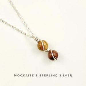 Shop Mookaite Necklaces! Gemstone Necklace, Dainty Necklace, Mookaite, Sterling Silver, Abstract, Christmas Gift For Girlfriend | Natural genuine Mookaite necklaces. Buy crystal jewelry, handmade handcrafted artisan jewelry for women.  Unique handmade gift ideas. #jewelry #beadednecklaces #beadedjewelry #gift #shopping #handmadejewelry #fashion #style #product #necklaces #affiliate #ad