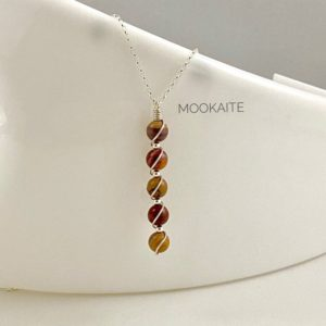 Shop Mookaite Pendants! Mookaite, Abstract necklace, Marble Pendant, Long statement pendant | Natural genuine Mookaite pendants. Buy crystal jewelry, handmade handcrafted artisan jewelry for women.  Unique handmade gift ideas. #jewelry #beadedpendants #beadedjewelry #gift #shopping #handmadejewelry #fashion #style #product #pendants #affiliate #ad