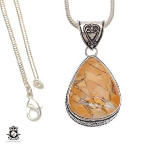 Shop Mookaite Pendants! Get this for yourself! Australian Brecciated Mookaite Pendant 4mm Snake Chain V697 | Natural genuine Mookaite pendants. Buy crystal jewelry, handmade handcrafted artisan jewelry for women.  Unique handmade gift ideas. #jewelry #beadedpendants #beadedjewelry #gift #shopping #handmadejewelry #fashion #style #product #pendants #affiliate #ad