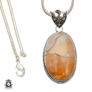 Shop Mookaite Pendants! Subtle Combo! Australian Brecciated Mookaite Pendant 4mm Snake Chain V692 | Natural genuine Mookaite pendants. Buy crystal jewelry, handmade handcrafted artisan jewelry for women.  Unique handmade gift ideas. #jewelry #beadedpendants #beadedjewelry #gift #shopping #handmadejewelry #fashion #style #product #pendants #affiliate #ad