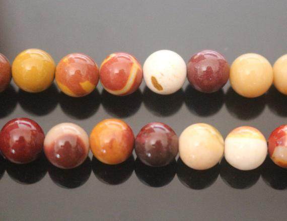 """Natural Mookaite Smooth Round Beads,4mm 6mm 8mm 10mm 12mm 14mm Mookaite Beads Wholesale Supply,one Strand 15"""""""