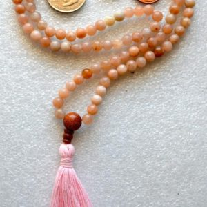 Shop Moonstone Necklaces! Moonstone Natural Flower Handmade Mala Beads Necklace -Blessed Karma Nirvana Meditation 8 mm 108 Prayer Beads For Awakening Chakra Kundalini | Natural genuine Moonstone necklaces. Buy crystal jewelry, handmade handcrafted artisan jewelry for women.  Unique handmade gift ideas. #jewelry #beadednecklaces #beadedjewelry #gift #shopping #handmadejewelry #fashion #style #product #necklaces #affiliate #ad