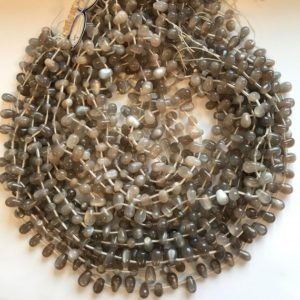 Shop Moonstone Bead Shapes! natural gray moonstone  6x9mm teardrop Beads–15.5 inch ,moon stone bead/Gemstone Beads | Natural genuine other-shape Moonstone beads for beading and jewelry making.  #jewelry #beads #beadedjewelry #diyjewelry #jewelrymaking #beadstore #beading #affiliate #ad