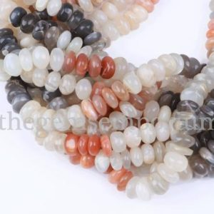 Shop Moonstone Rondelle Beads! Multi Moonstone Smooth beads, Moonstone Beads, Multi moonstone Beads, Moonstone Rondelle Beads, Multi Smooth Moonstone Rondelle  Beads | Natural genuine rondelle Moonstone beads for beading and jewelry making.  #jewelry #beads #beadedjewelry #diyjewelry #jewelrymaking #beadstore #beading #affiliate #ad
