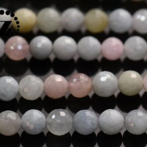 """Shop Morganite Faceted Beads! Morganite, faceted (128 faces) round,candy color Morganite,Rainbow gemstone,natural,6mm 8mm 10mm for choice,15"""" full strand   Natural genuine faceted Morganite beads for beading and jewelry making.  #jewelry #beads #beadedjewelry #diyjewelry #jewelrymaking #beadstore #beading #affiliate #ad"""