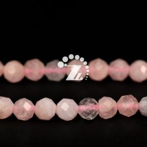 """Shop Morganite Faceted Beads! Morganite Faceted Round Beads,Candy Color Morganite,Rainbow,Natural,Genuine,Gemstone,DIY Beads,Jewelry Making,4mm,15"""" full strand 