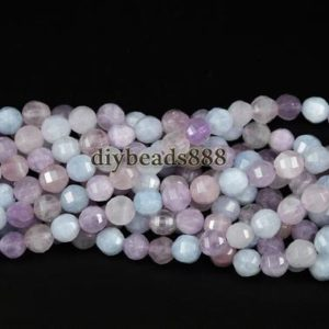 Shop Morganite Faceted Beads! Morganite,15 inches full strand Grade A Multicolor Morganite Faceted Round Beads,Pumpkin beads,Gemstone,8mm | Natural genuine faceted Morganite beads for beading and jewelry making.  #jewelry #beads #beadedjewelry #diyjewelry #jewelrymaking #beadstore #beading #affiliate #ad