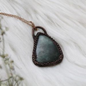 Shop Moss Agate Necklaces! Moss Agate Necklace,  electroformed copper necklaces for women, gemstone statement necklace, stocking stuffers for her, Christmas | Natural genuine Moss Agate necklaces. Buy crystal jewelry, handmade handcrafted artisan jewelry for women.  Unique handmade gift ideas. #jewelry #beadednecklaces #beadedjewelry #gift #shopping #handmadejewelry #fashion #style #product #necklaces #affiliate #ad