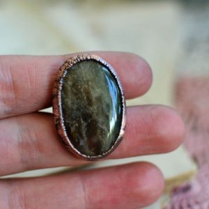 Shop Moss Agate Jewelry! Moss Agate ring, bohemian jewelry, hippie style, mariaela, raw nature ring, boho ring, organic, big ring, 5.75 us | Natural genuine Moss Agate jewelry. Buy crystal jewelry, handmade handcrafted artisan jewelry for women.  Unique handmade gift ideas. #jewelry #beadedjewelry #beadedjewelry #gift #shopping #handmadejewelry #fashion #style #product #jewelry #affiliate #ad