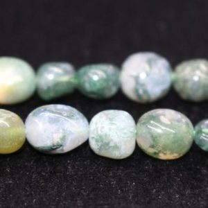 """Shop Moss Agate Beads! Natural Moss Agate Chip Beads,Chip beads,8x10mm Moss Agate Chip Nugget Beads,one strand 15"""",Moss Agate Beads. 