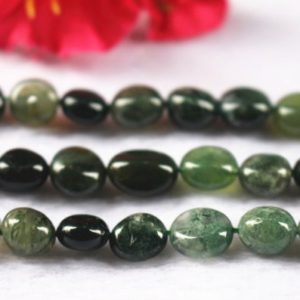 """Shop Moss Agate Beads! Natural Moss Agate Nugget beads,6x8mm 8x10mm Moss Agate Chip beads Agate Beads wholesale supply,15"""" strand 